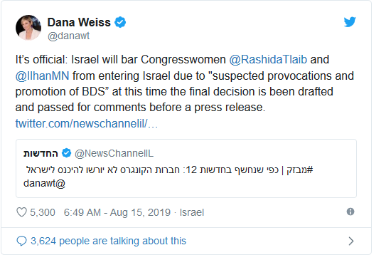 Screenshot_2019-08-15 Decision made Israel will bar Tlaib and Omar from visiting on Friday(1)