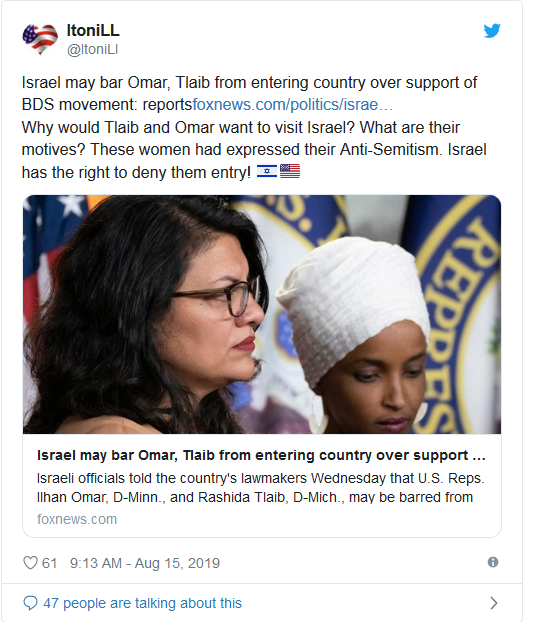 Screenshot_2019-08-15 Decision made Israel will bar Tlaib and Omar from visiting on Friday(4)