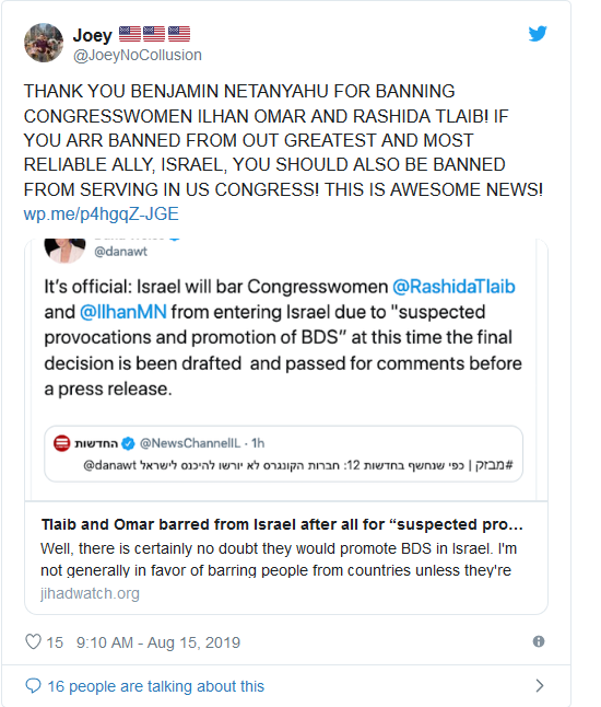 Screenshot_2019-08-15 Decision made Israel will bar Tlaib and Omar from visiting on Friday(5)