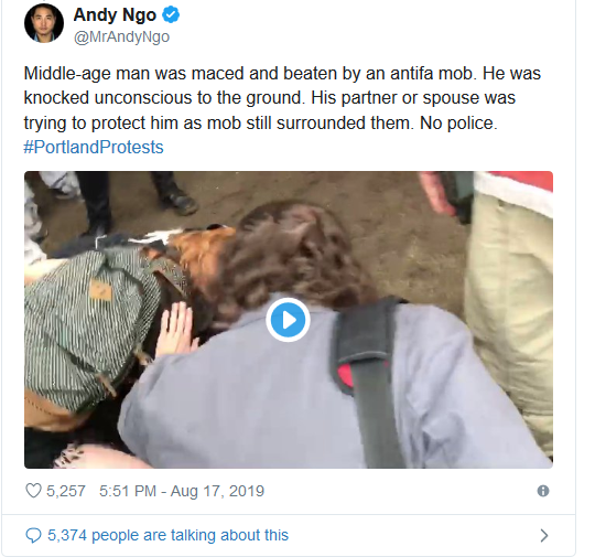 Screenshot_2019-08-17 'Anarchy and Chaos' Violent Antifa Protests Break Out in Portland(4)