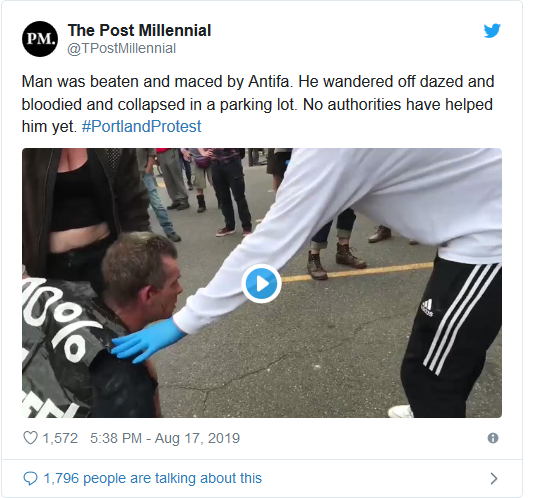 Screenshot_2019-08-17 'Anarchy and Chaos' Violent Antifa Protests Break Out in Portland(5)