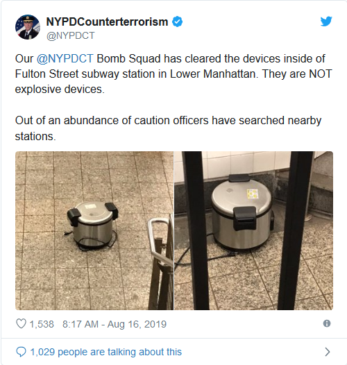 Screenshot_2019-08-17 NYC Subway Station Shut Down After Two Pressure Cookers Found – True Pundit(1)