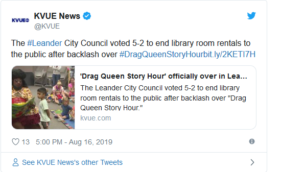 Screenshot_2019-08-26 Firestorm over Drag Queen Event Pushes City to Change Library Policies(1)