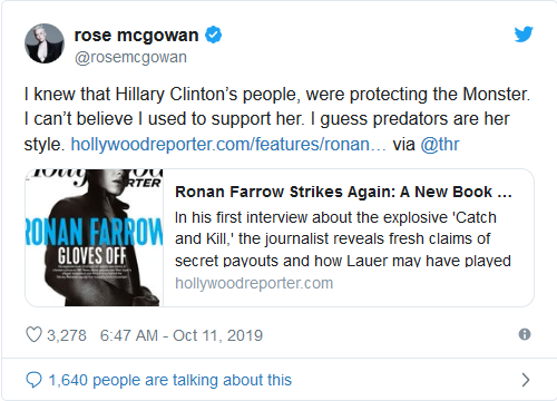 Screenshot_2019-10-14 Harvey Weinstein Victim Takes Aim at Hillary Clinton 'I Guess Predators Are Her Style'