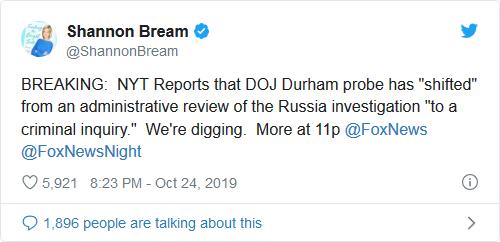 Screenshot_2019-10-25 BREAKING AG Bill Barr Announces Durham Probe is Now a CRIMINAL INVESTIGATION -- Subpoenas Coming Deep[...]