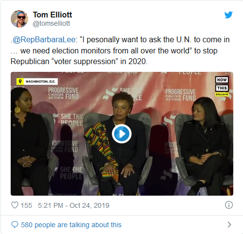 Screenshot_2019-10-30 Dem Rep 'personally' asks UN to intervene in 2020 election, wants monitors from 'all over the world'(1)